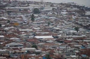 The dense neighborhood of West Point Liberia