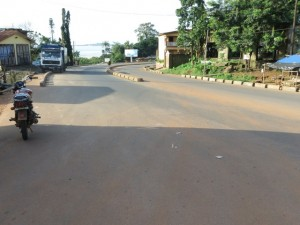 Deserted streets in Freetown on day 1 of lockdown