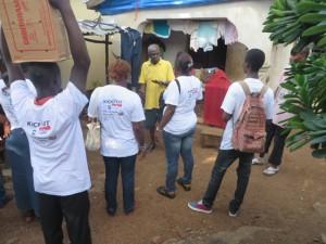 Teams engage households at Juba Hills in western Freetown