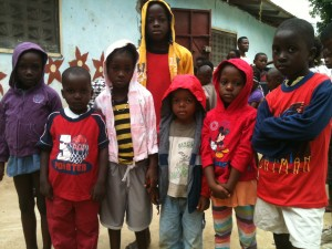 Some of the Orphans in some of their clothes
