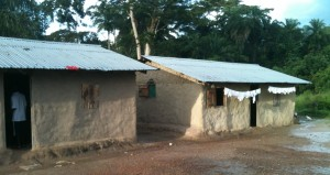 Some of the structures housing the Orphans in Gorlu Town, Lofa County-Liberia