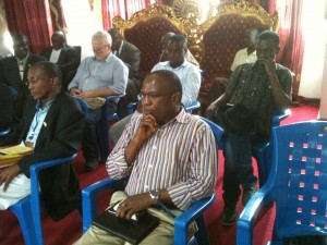 Dr. Stephen B. Kennedy (left) & Dr. Francis Kateh (right) seated at the Senate hearing