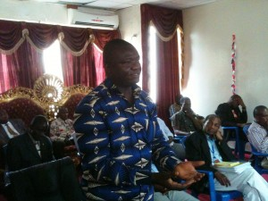 Torbor Nyenswah of the Health Ministry of Liberia, the man in charge of the Ebola Incident Management process