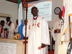 Bishop John Yambasu at the 136th Annual Session of the Sierra Leone Annual Conference in Freetown, Sierra Leone. Photo by Phileas Jusu