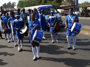 Brass band of the Harford School for Girls – the denomination's oldest girls' school in Sierra Leone