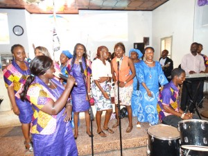 The Sierra Leone Gospel band entertains delegates and observers at the 136th session of the Sierra Leone Annual Conference