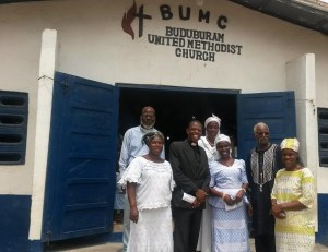 BUMC Leadership including Rev. James Kaifunbah in the front roll 2nd from left