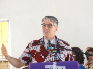 Rev David Biser of Crosspoint UMC, Penn. led the devotion on Thursday on the conference theme The Journey Ahead.