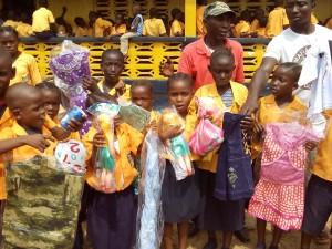 Students of the Siaffa-keh United Methodist School thanking First UMC Monrovia