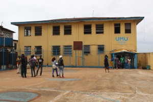 One of the buildings housing some of the classes on UMU main campus in central Monrovia..